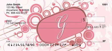 Click on Stylish Monogram G Personal Checks For More Details