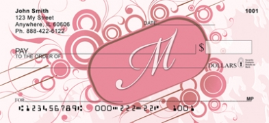 Click on Stylish Monogram M Personal Checks For More Details