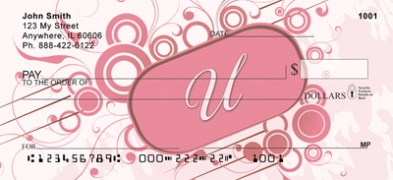 Click on Stylish Monogram U Personal Checks For More Details