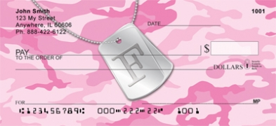 Click on Dog Tag Monogram F Personal Checks For More Details