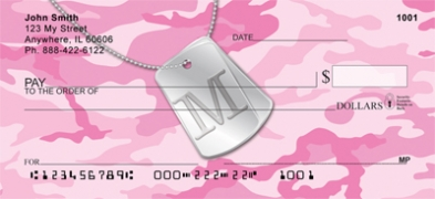 Click on Dog Tag Monogram M Personal Checks For More Details