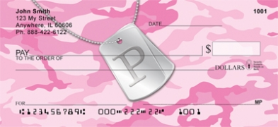 Click on Dog Tag Monogram P Personal Checks For More Details