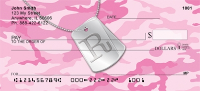 Click on Dog Tag Monogram R Personal Checks For More Details