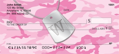 Click on Dog Tag Monogram W Personal Checks For More Details
