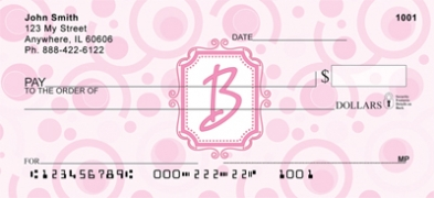 Click on Bubbly Monogram B Personal Checks For More Details