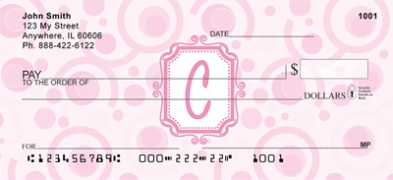 Click on Bubbly Monogram C Personal Checks For More Details