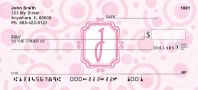 Click on Bubbly Monogram J Personal Checks For More Details