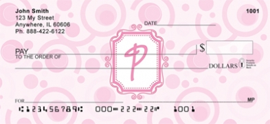 Click on Bubbly Monogram P Personal Checks For More Details