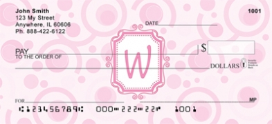 Click on Bubbly Monogram W Personal Checks For More Details