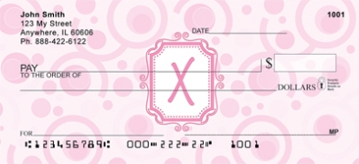 Click on Bubbly Monogram X Personal Checks For More Details