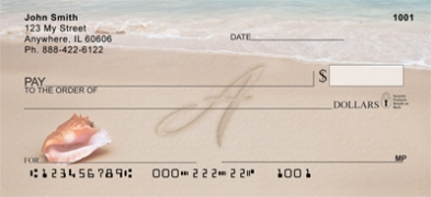 Click on Sand Written Monogram A Personal Checks For More Details