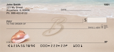 Click on Sand Written Monogram B Personal Checks For More Details