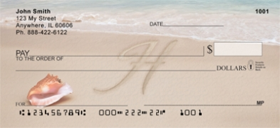 Click on Sand Written Monogram H Personal Checks For More Details