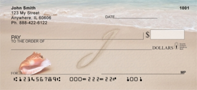 Click on Sand Written Monogram J Personal Checks For More Details