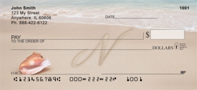 Click on Sand Written Monogram N Personal Checks For More Details