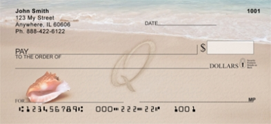 Click on Sand Written Monogram Q Personal Checks For More Details