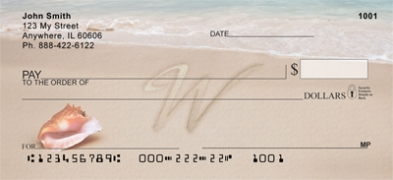 Click on Sand Written Monogram W Personal Checks For More Details