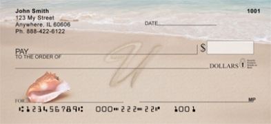 Click on Sand Written Monogram U Personal Checks For More Details