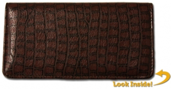 Click on Reptile Brown Textured Leather Cover For More Details