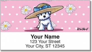 Click on Bichon Frise Address Labels For More Details