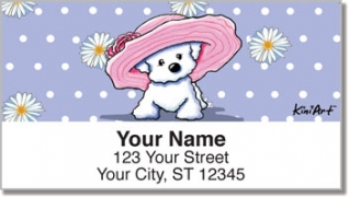 Click on Bichon Frise Girls Address Labels For More Details