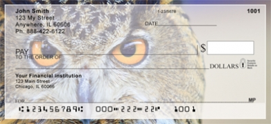 Click on Owl's Eyes Personal Checks thumbnail to view the product detail page