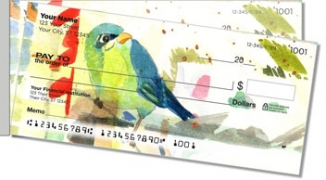 Click on Mixed Media Birds Side Tear Personal Checks For More Details