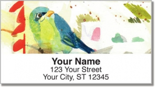 Click on Mixed Media Birds Address Labels For More Details