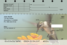 Click on Hummingbirds Top Stub Personal Checks For More Details