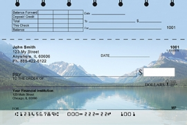 Click on Mountain Lake Reflections Top Stub Personal Checks For More Details