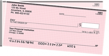Click on Pink Safety Side Tear Personal Checks For More Details