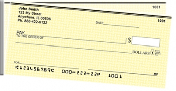 Click on Yellow Safety Side Tear Personal Checks For More Details