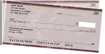 Click on Burgundy Marble Side Tear Personal Checks For More Details