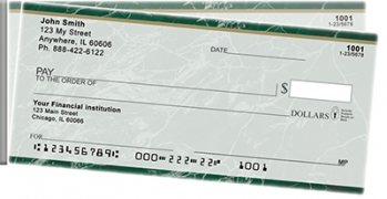 Click on Green Marble Side Tear Personal Checks For More Details