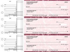 Learn more about Burgundy Marble Standard Business Checks