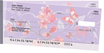 Click on Cherry Blossoms Side Tear Personal Checks For More Details
