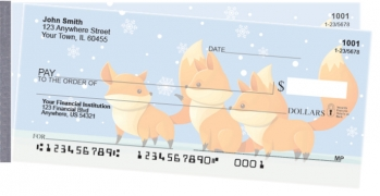 Click on Playful Foxes Side Tear Personal Checks For More Details