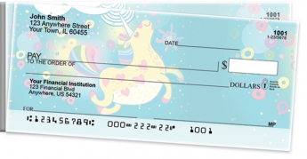 Click on Cartoon Unicorns Side Tear Personal Checks For More Details