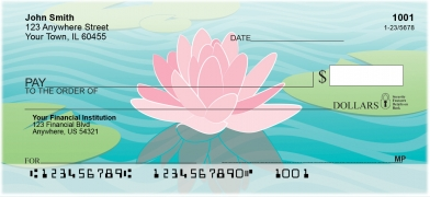 Water-Lilies-Personal-Checks