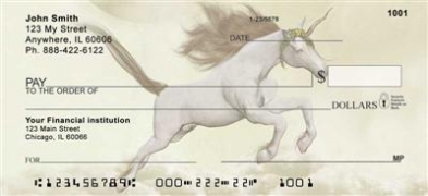 Moonlit Unicorns Personal Checks