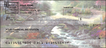 Click on Serenity by Thomas Kinkade with Bible verse Religious - 1 Box Personal Checks For More Details