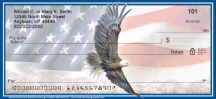 Click on God Bless America Patriotic Eagle and Flag  Personal Checks For More Details