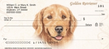 Click on Golden Retriever Dog Designs Personal Checks For More Details