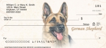 Click on German Shepherd Dog Personal Checks For More Details