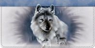 Click on Spirit of the Wilderness Wolf Checkbook Cover For More Details