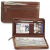 Click on Cognac Zippered Leather Checkbook Cover For More Details