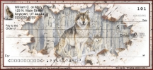 Click on Call of the Wild Wolf  Personal Checks For More Details