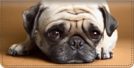 Click on Faithful Friends - Pug Checkbook Cover For More Details