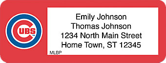 Click on Chicago Cubs(TM) MLB(R) Return Address Label For More Details