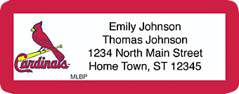 Click on St Louis Cardinals(TM) MLB(R) Return Address Label For More Details